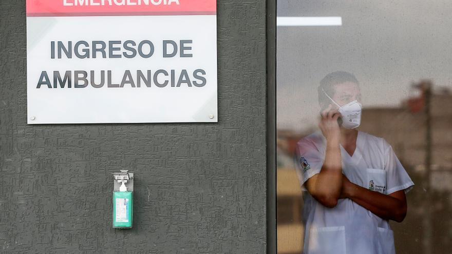 Baja demanda hospitalaria por covid en Ecuador, pero la situación es sensible