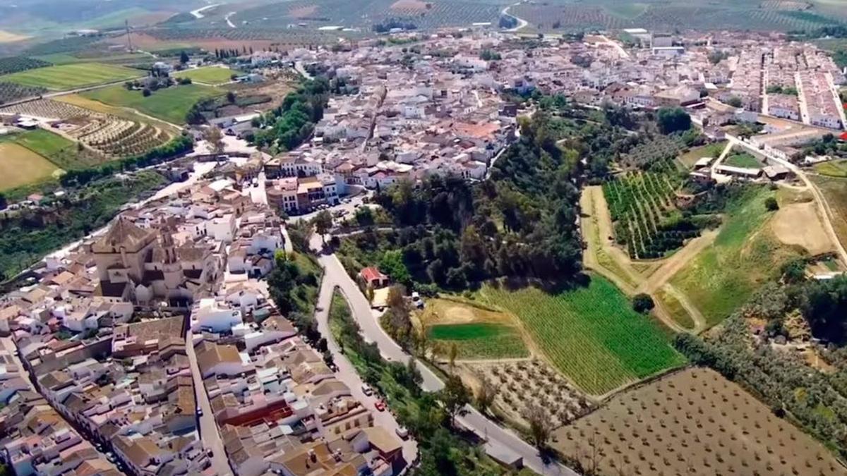 Vista aérea de Santaella