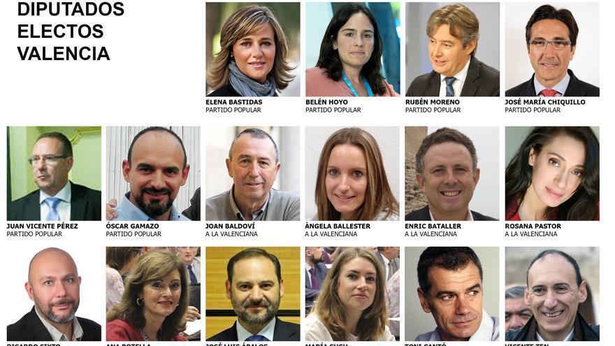 Éstos serán los 16 diputados por la provincia de Valencia la próxima legislatura