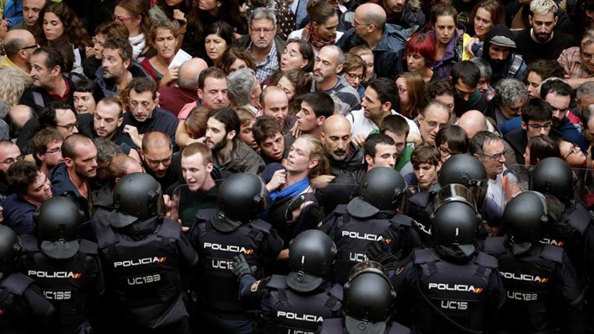 Intervención policial en Barcelona