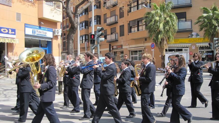 Una banda de música en Valencia.