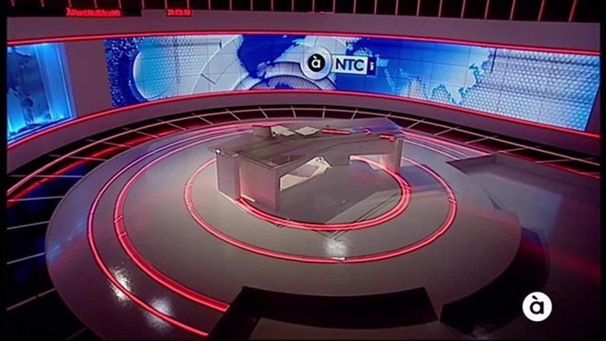 El plató de À Punt Notícies