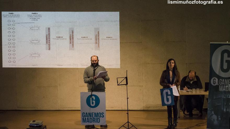 Pablo Carmona, portavoz de Ganemos Madrid, en una imagen de archivo