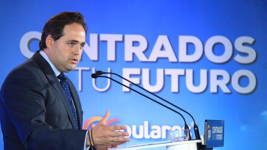 El candidato del PP a la Presidencia de Castilla-La Mancha, Francisco Nuñez