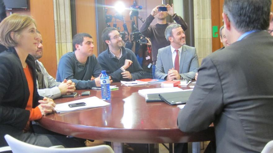 Acaba sin acuerdo la reunión de los cincos partidos catalanes favorables al derecho a decidir