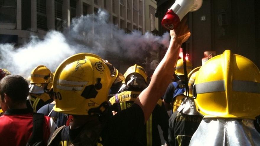 De las protesta de los bomberos #8