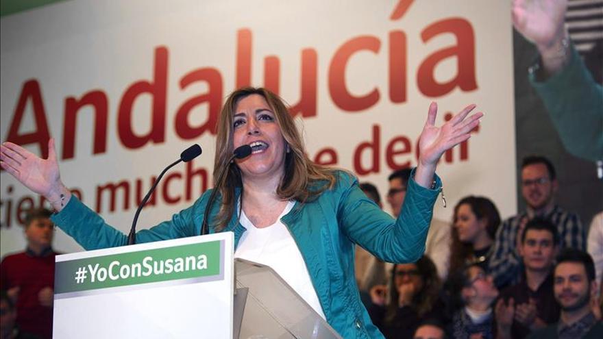 Díaz reivindica el espíritu del 28F para recuperar la mayoría socialista desde Andalucía