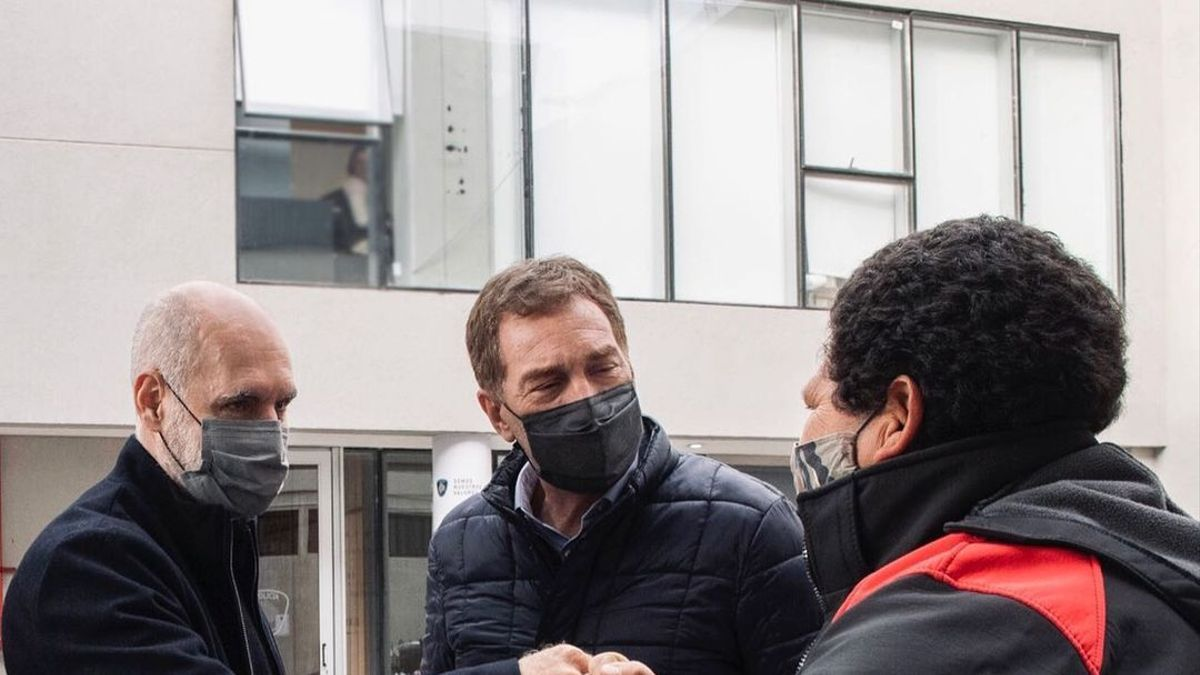 Horacio Rodríguez Larreta y Diego Santilli, de recorrida porteña
