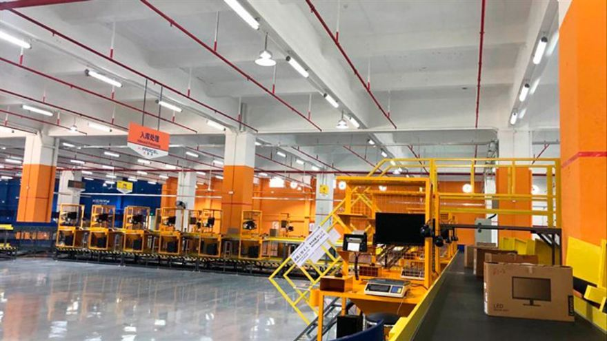 Imagen de la planta que Correos acaba de abrir en China, el mayor mercado mundial de comercio online.