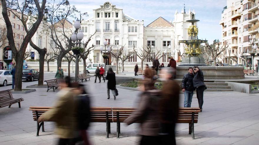 Plaza Navarra, Huesca. Foto: Juan Manzanara