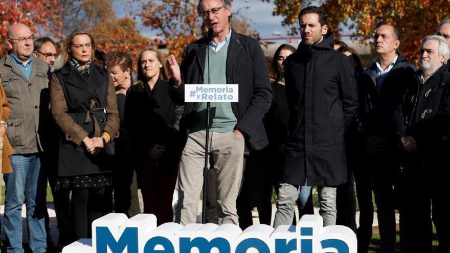 El PP recuerda en solitario a las víctimas y defiende su significado político