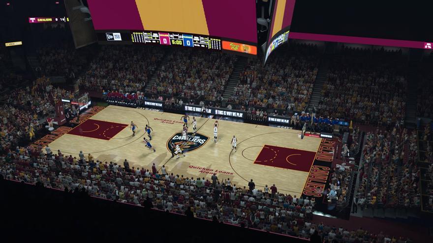 Panorámica de The Q en NBA 2K18