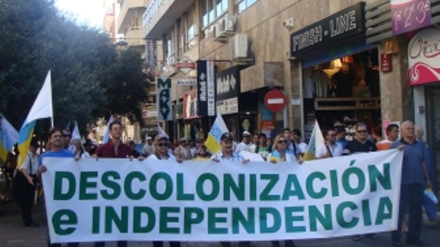 Manifestación en Santa Cruz de Tenerife.