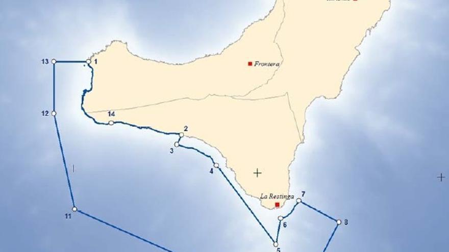 Límites parque nacional marino El Hierro