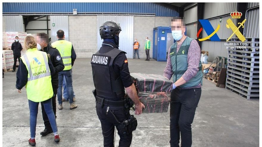 Aprehendidos dos alijos con 1,4 toneladas de cocaína en el Puerto de Bilbao