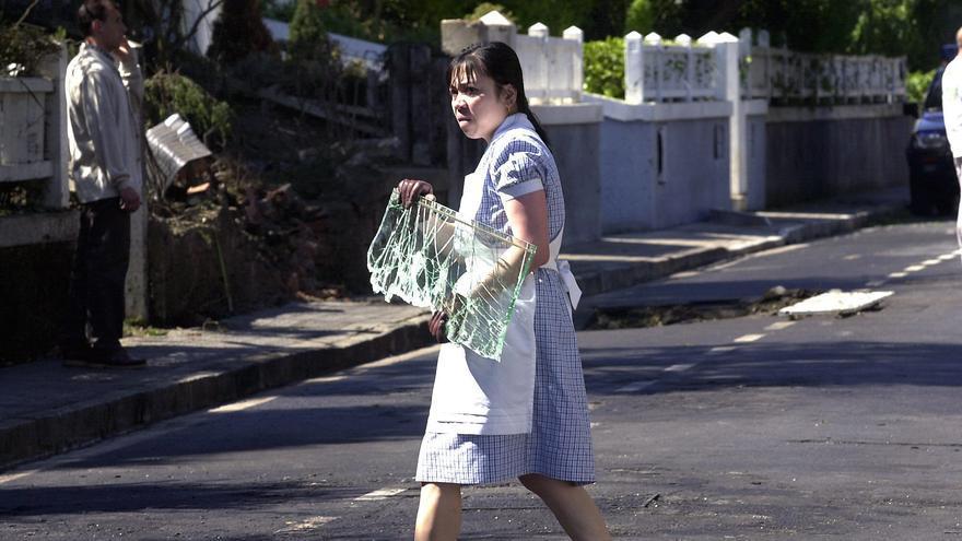 Una empleada del hogar en Getxo, Bizkaia. / Efe