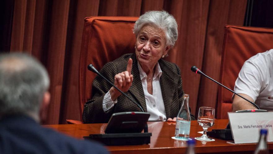Marta Ferrusola en una comparecendia en el Parlament de Catalunya