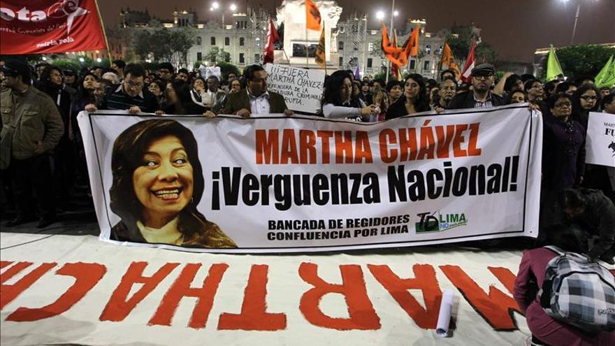 El Congreso de Perú desactiva la comisión de la congresista fujimorista Martha Chávez