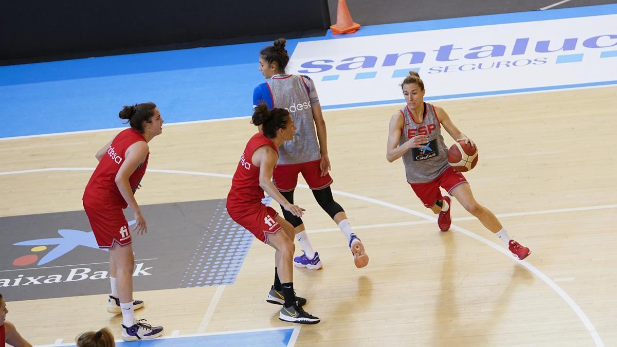 Entrenamiento de la selección española en Vista Alegre