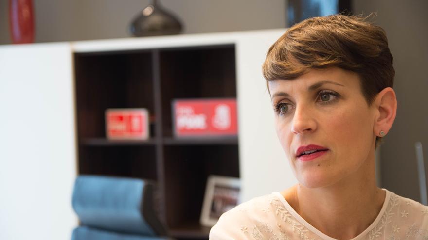 La candidata del PSN a la presidencia del Gobierno de Navarra, María Chivite.