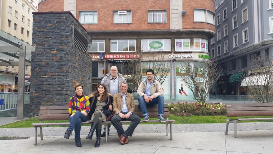 Integrantes de la coalición electoral Ganemos Juntos Santander, integrada por IU, Equo y ciudadanos independientes.
