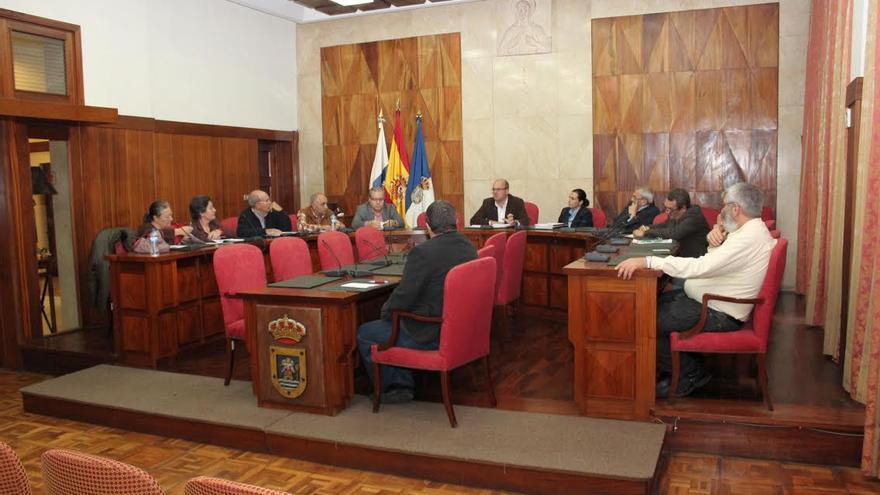 En la imagen, reunión del Consejo Económico y Social  de La Palma.