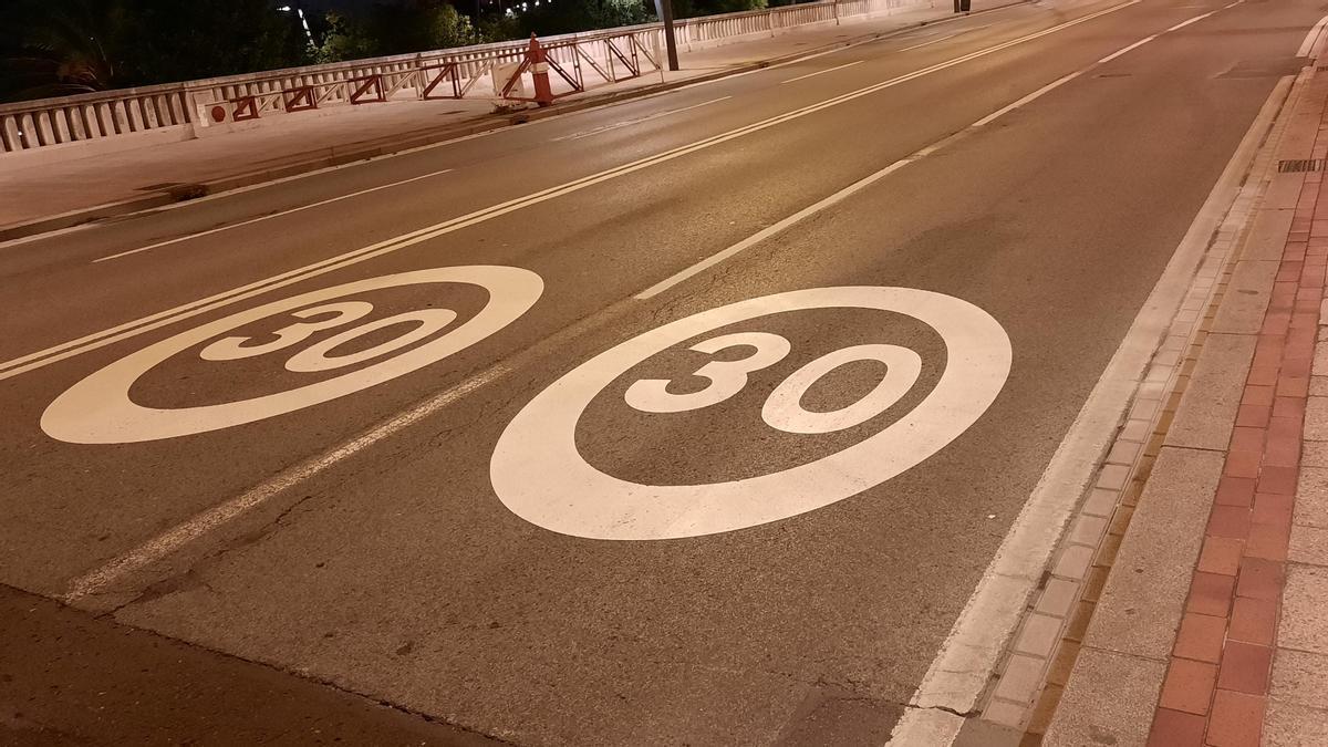 Señal de 30 Km/h