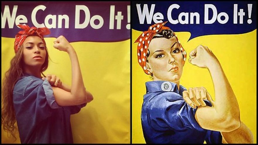 Beyonce posó en Instagram emulando 'Rosie la remachadora', icono del empoderamiento de las mujeres
