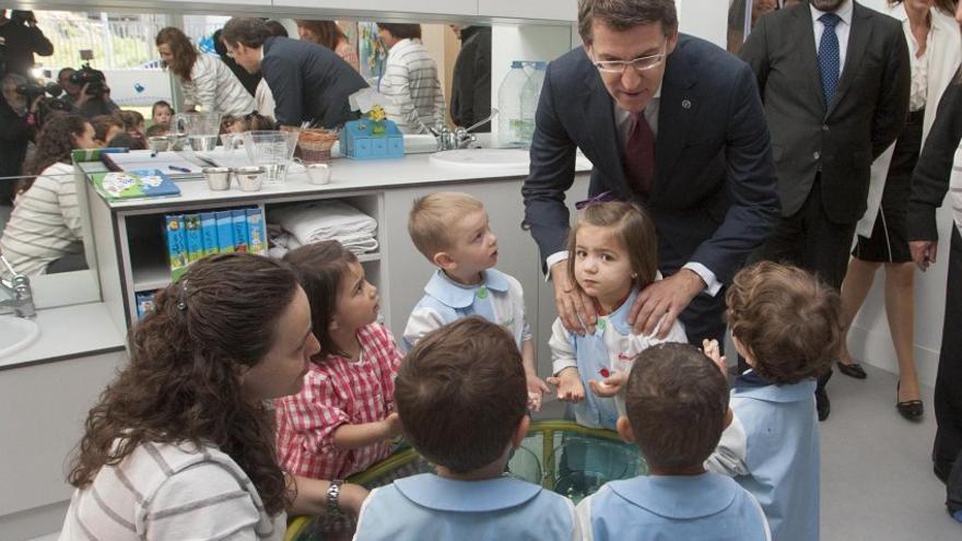 Núñez Feijóo, en una escuela infantil