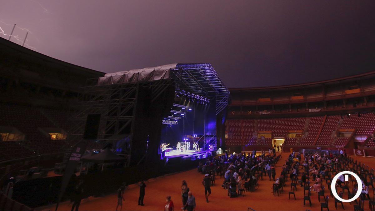 Rayos sobre el escenario