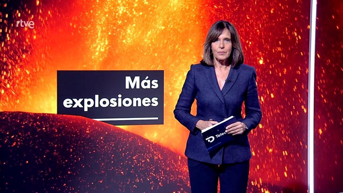 Ana Blanco en el 'Telediario'