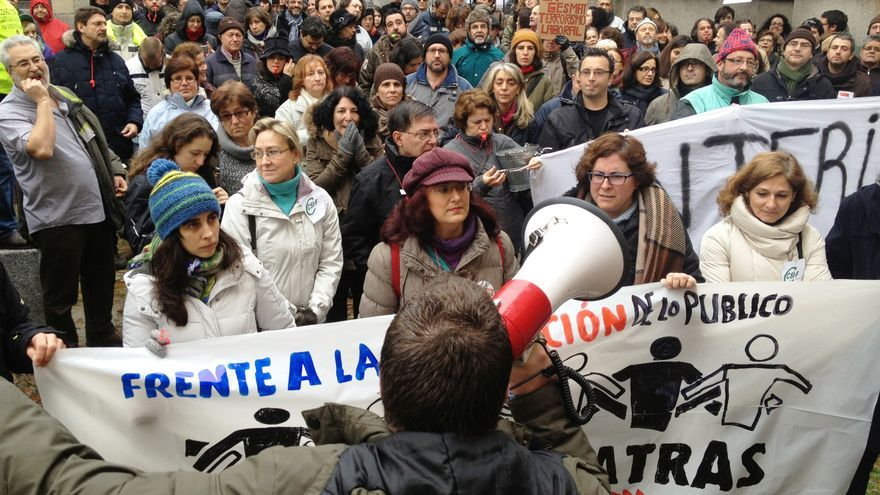 Manifestación por los trabajadores públicos, Toledo, 18/1/15