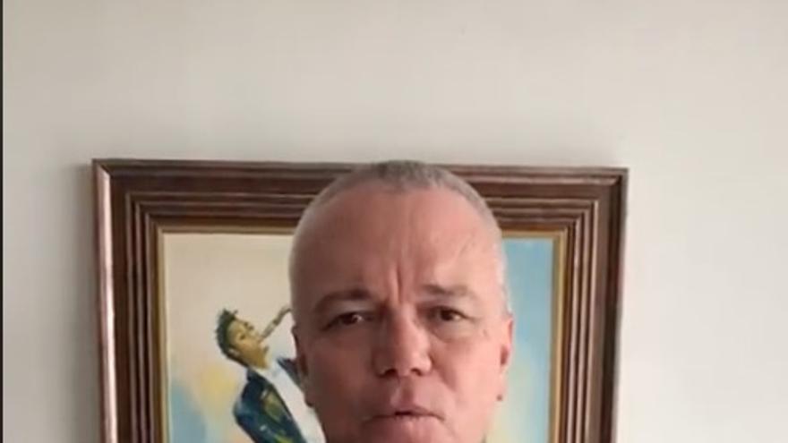 Jhon Jairo Velásquez, en uno de los vídeos para el concejal del PP de Carboneras