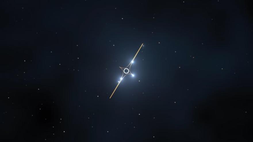 """Ícaro, cuyo nombre oficial es """"MACS J1149+2223 Lensed Star 1"""", es la estrella individual más lejana jamás vista. Sólo es visible debido a la magnificación de su brillo producida por un cúmulo masivo de galaxias, localizado a unos 5000 millones de años luz de la Tierra."""