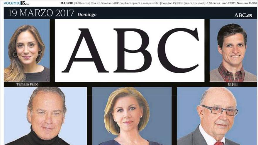 Portada del diario ABC 19/03/2017