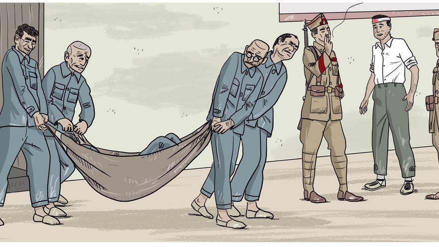 Viñeta de 'Esclavos de Franco', de Chesús Calvo.