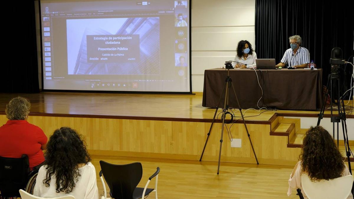 Presentación del borrador del Plan Estratégico de Participación Ciudadana.