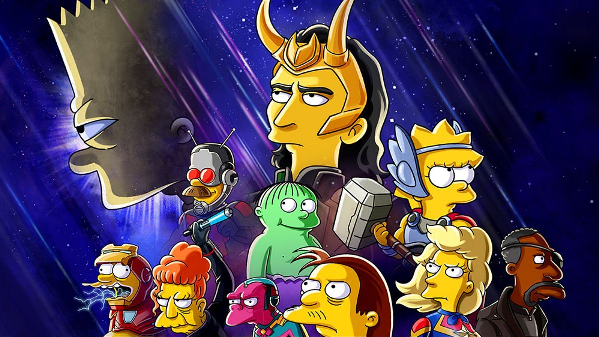 Póster del cortometraje 'Los Simpson: La buena, el malo y Loki'