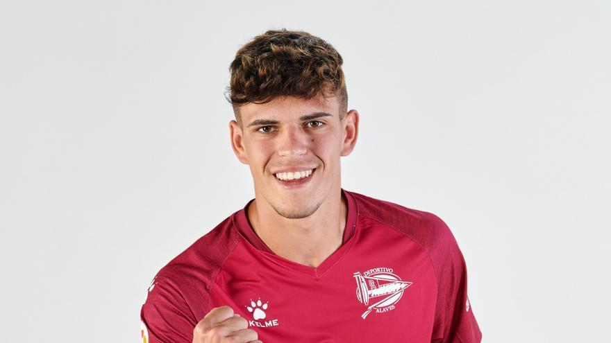 Javi López, jugador orotavense del Deportivo Alavés.