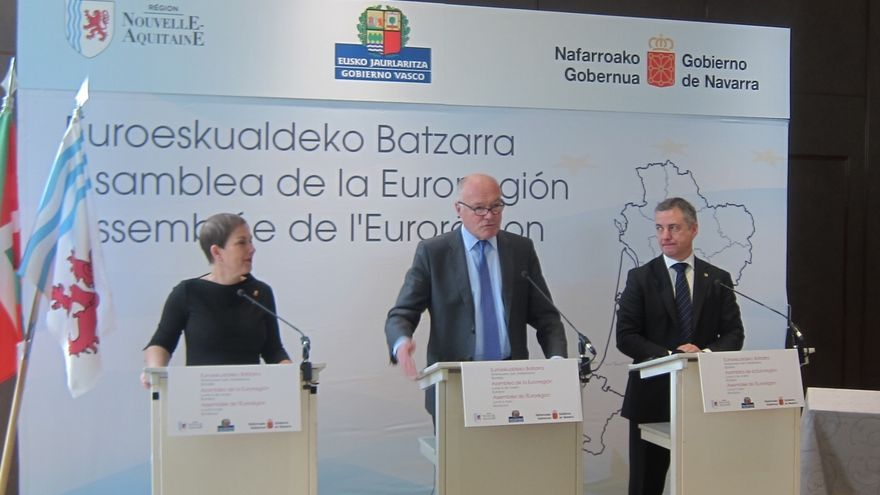 """Urkullu cree que la incorporación de Navarra """"refuerza el eslabón clave"""" de la Eurorregión en el Arco Atlántico"""
