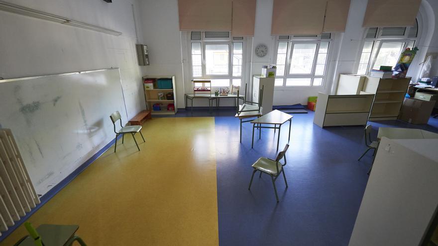 Una clase del Colegio Público Víctor Pradera en el primer día de colegio del curso escolar 2020-2021en Pamplona, Navarra (España), a 4 de septiembre de 2020