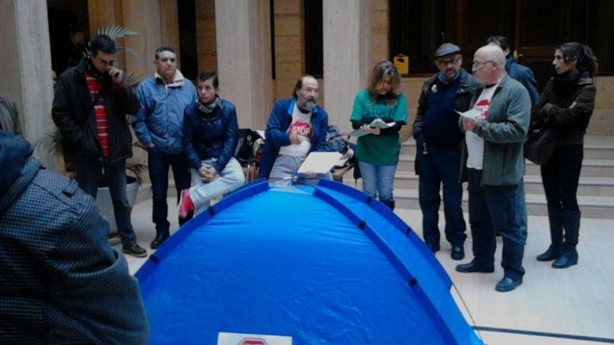 Acampada de la PAH en Albacete / Foto: albacetecapital.es