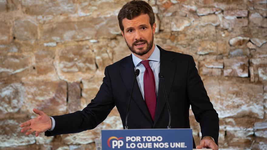 """Casado carga contra Sánchez por el """"varapalo de Bruselas"""": """"La crisis ha llegado y no es capaz de evitarla"""""""