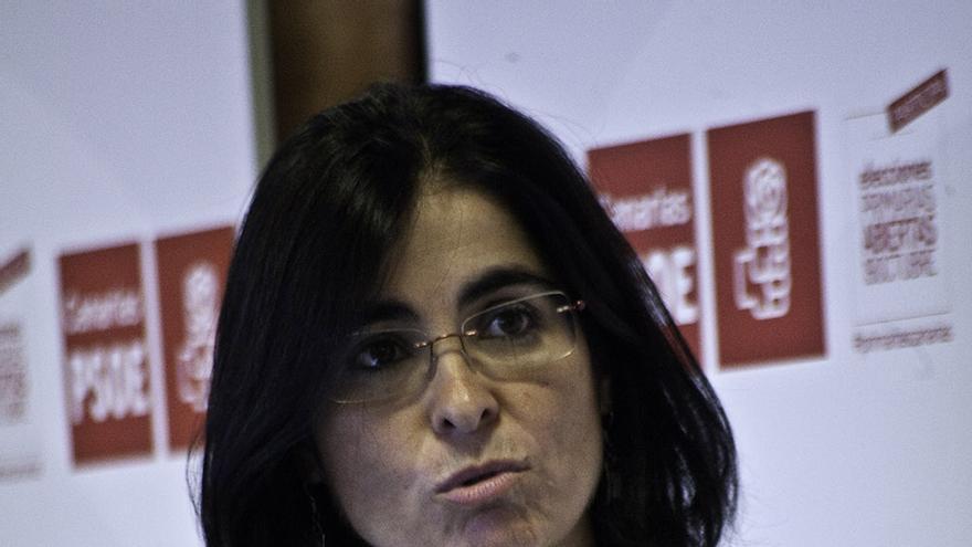 Carolina Darias en el debate sobre las primarias del PSC. | Maya Bencomo.