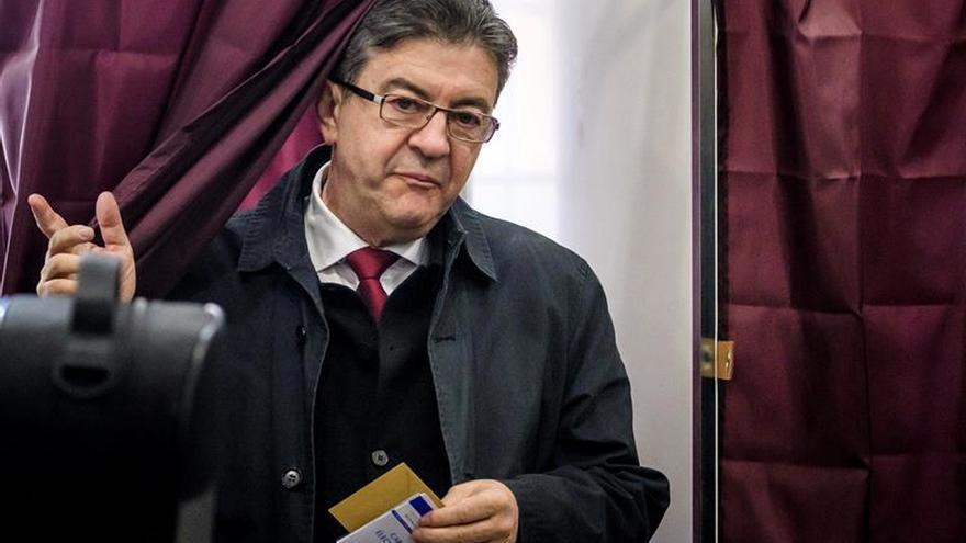El candidato de Francia Insumisa a las elecciones francesas, Jean-Luc Mélenchon, derrotado en la primera vuelta.