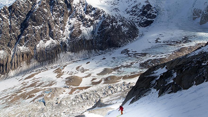 Punto de unión de los dos glaciares del valle.
