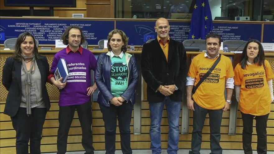 Colau pide en Bruselas la solidaridad de la UE con los afectados por hipoteca