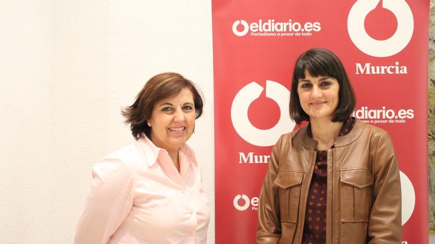 María González Veracruz visita la redacción de Eldiariomurcia