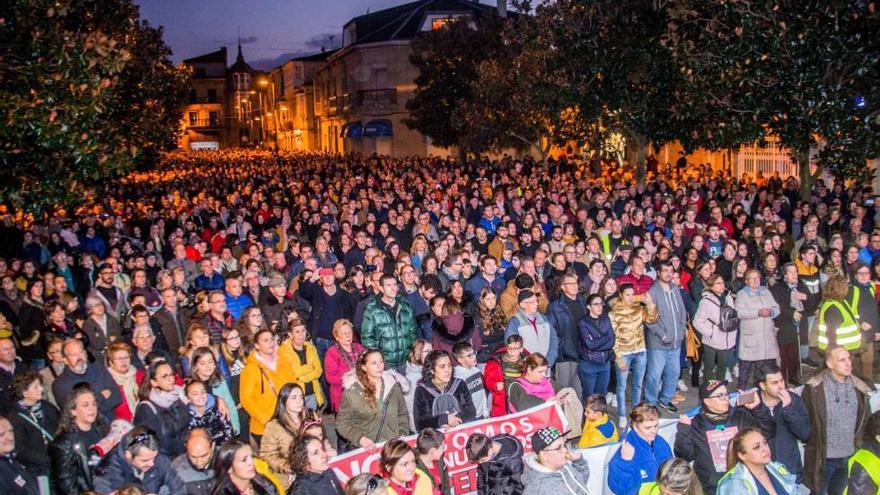Manifestación contra la supresión del paritorio en el hospital de Verín, el pasado sábado
