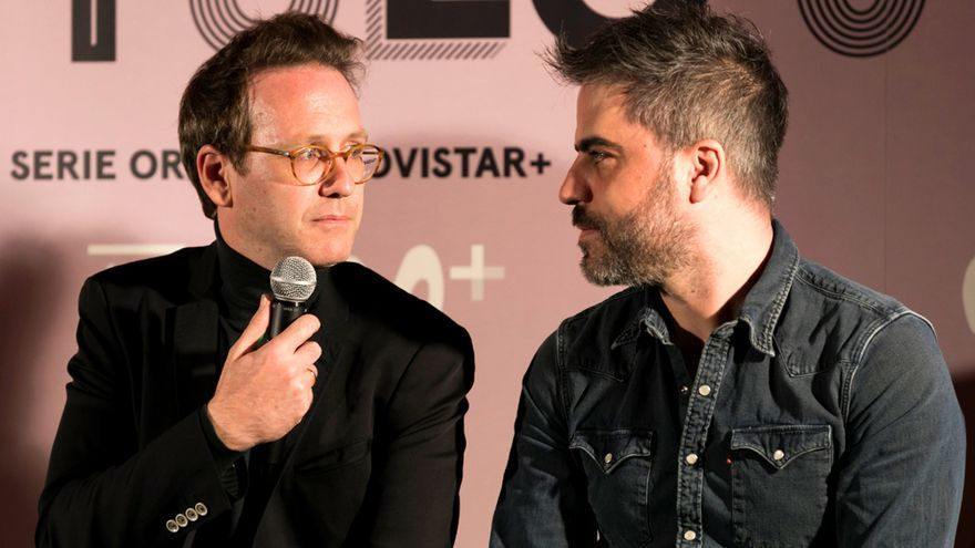 Joaquín Reyes y Ernesto Sevilla, en la presentación de 'Capítulo 0' (T2)
